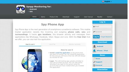 spy phone app picture