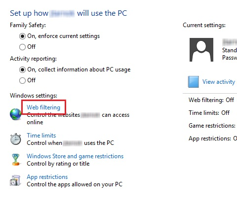 windows 8 parental controls