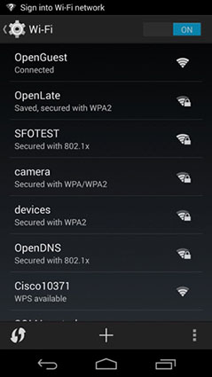 connect to wifi