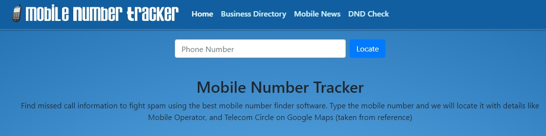 moible number tracker